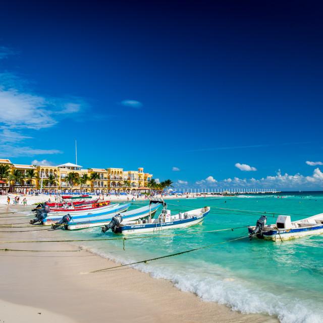 """""""Playa del Carmen beach"""" stock image"""