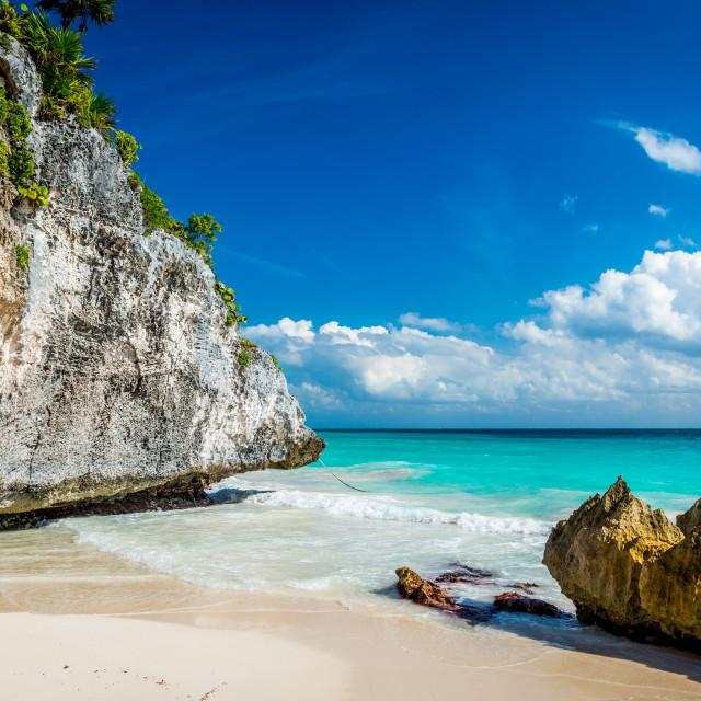 """""""Tulum beach Riviera Maya"""" stock image"""