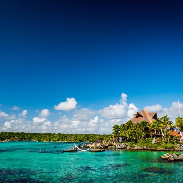 """Xel Ha resort Riviera Maya"" stock image"