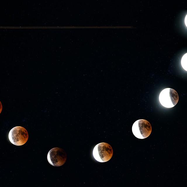 """Blood moon. ( + airplane )"" stock image"