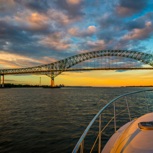 """""""Sunset on the St-Lawrence"""" stock image"""