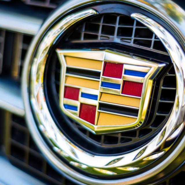 """""""Cadillac emblem logo"""" stock image"""