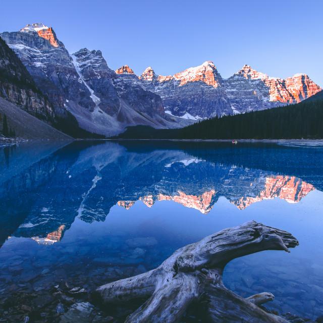 """Moraine Lake Sunrise"" stock image"