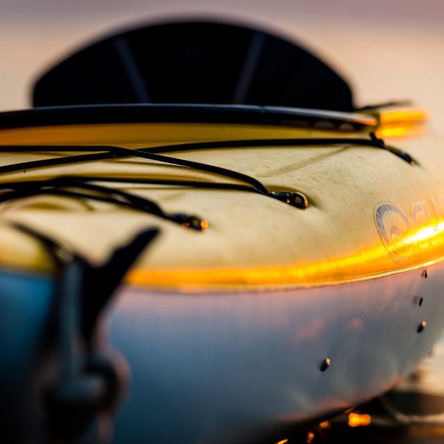 """""""Kayak at sunset on Lake Ontario"""" stock image"""