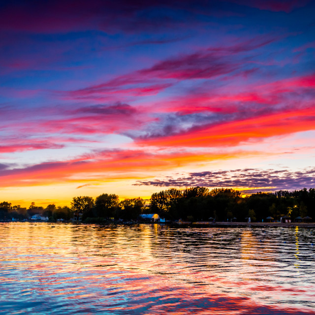 """""""Sunset on the St-lawrence seaway"""" stock image"""