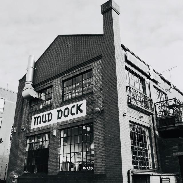 """Mud Dock Cafe"" stock image"
