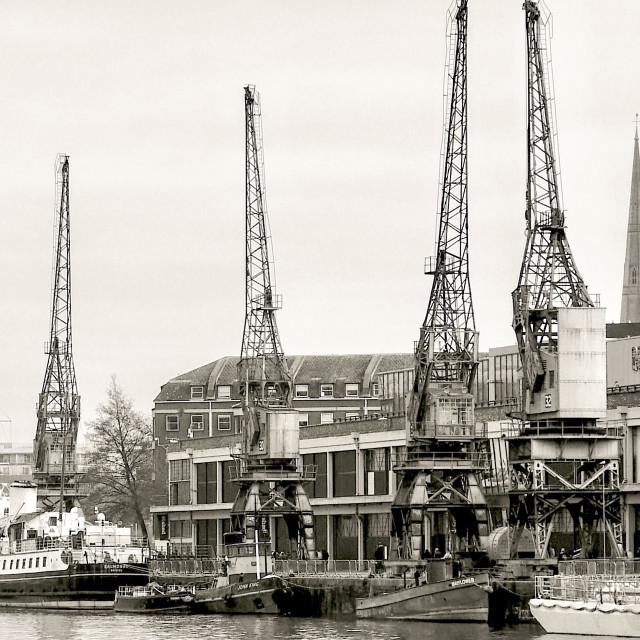 """Bristol Docks"" stock image"