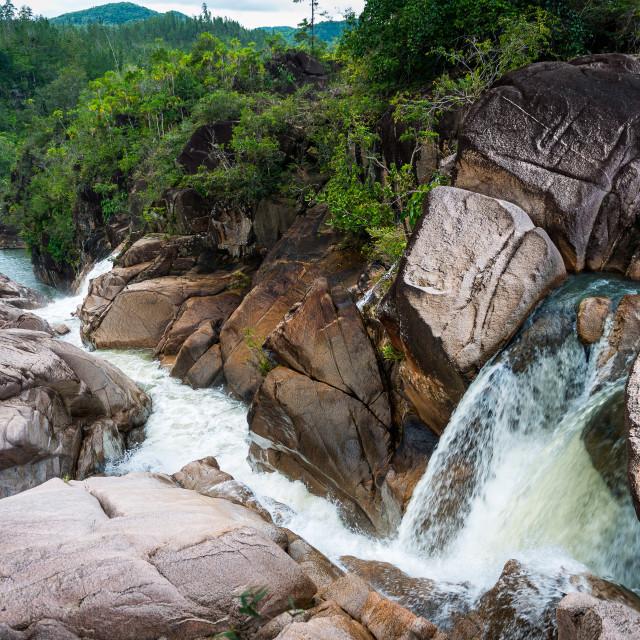 """""""Water falls Mountain Pine Ridge Belize"""" stock image"""