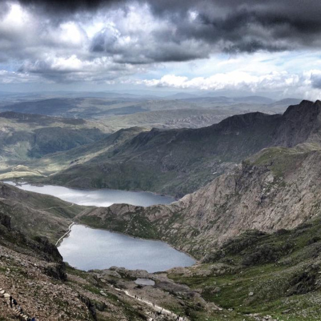 """View from Snowdon"" stock image"