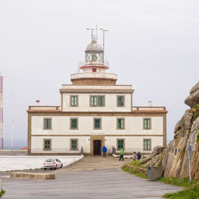 """""""Lighthouse - Cape Finisterre"""" stock image"""