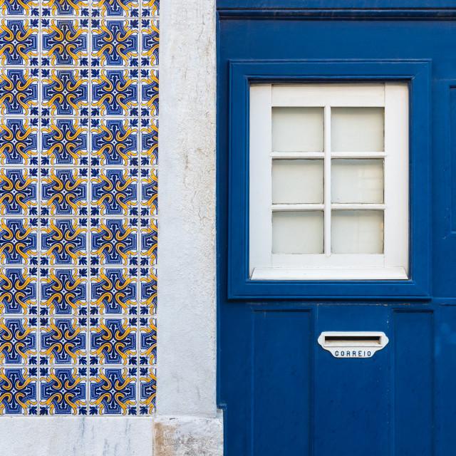 """""""Lisbon house facade with azulejos tiles"""" stock image"""