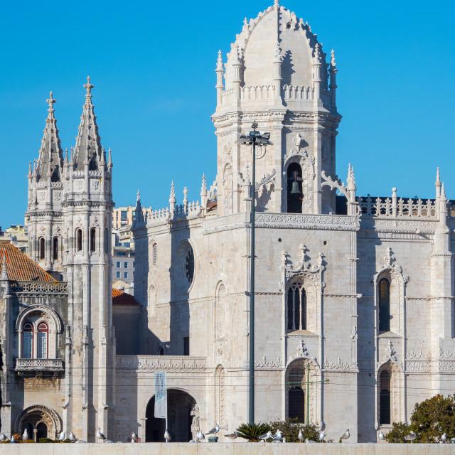 """Monastery of Jeronimos Dome, Lisbon, Portugal"" stock image"