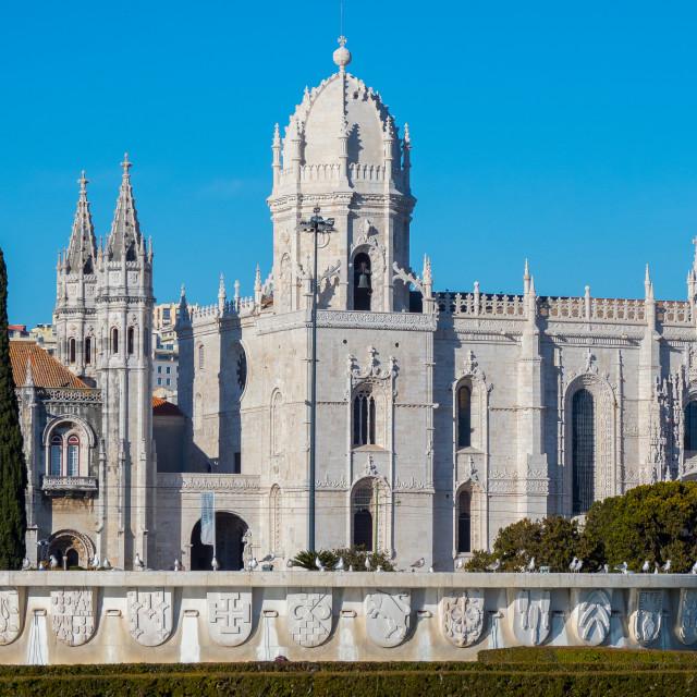"""Monastery of Jeronimos, Lisbon, Portugal"" stock image"
