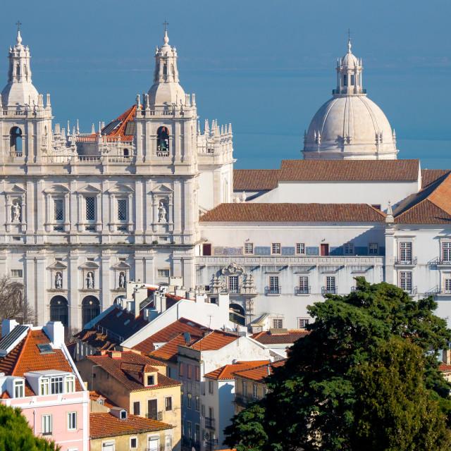 """Sao Vicente monastery, Lisbon, Portugal"" stock image"
