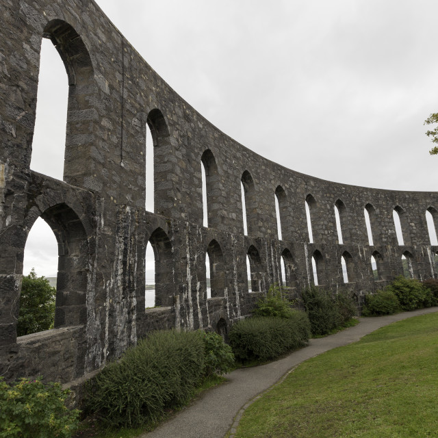 """""""McCaigs Tower in Oban Scotland"""" stock image"""
