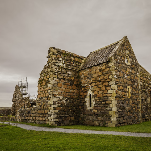 """Iona Nunnery Under Restoration"" stock image"