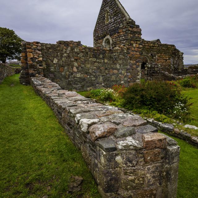 """Iona Nunnery Low Wall"" stock image"