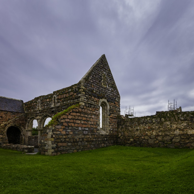 """Iona Nunnery Ruins"" stock image"