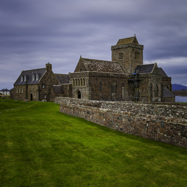 """""""Iona Abbey Vertical"""" stock image"""