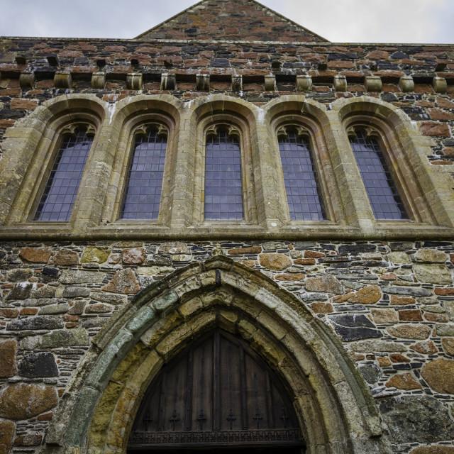 """Iona Abbey Sanctuary Entrance Detail"" stock image"