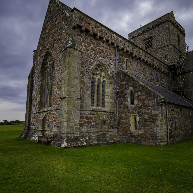 """""""Iona Abbey Exterior Vertical"""" stock image"""