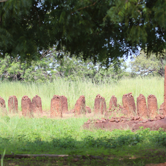 """Old cemetery in the Gambia"" stock image"