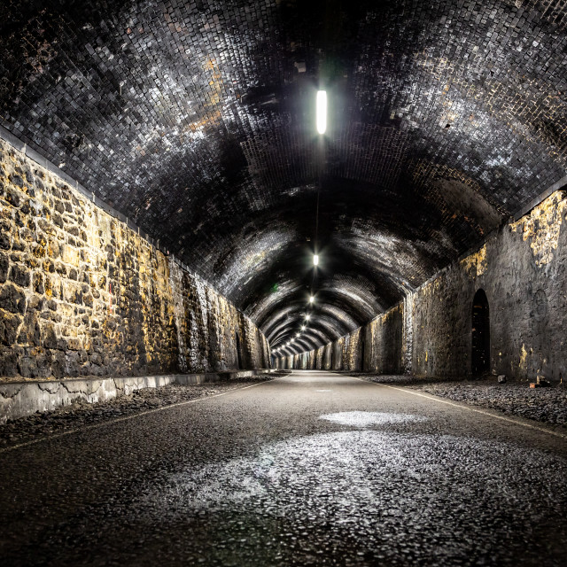 """Litton Tunnel Long Exposure"" stock image"