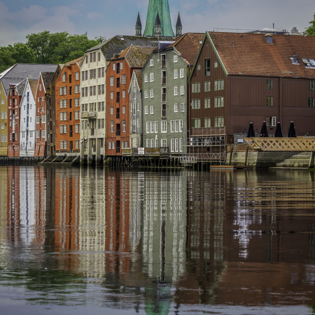 """""""the city of Trondheim"""" stock image"""
