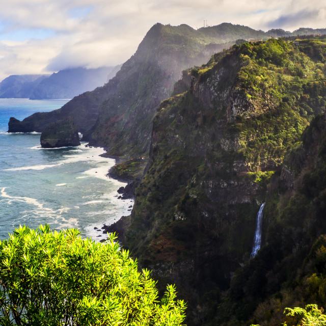 """Northern Coast of Madeira."" stock image"