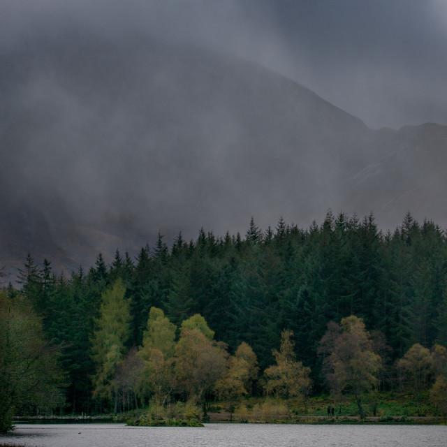 """Glencoe Lochan Weather"" stock image"