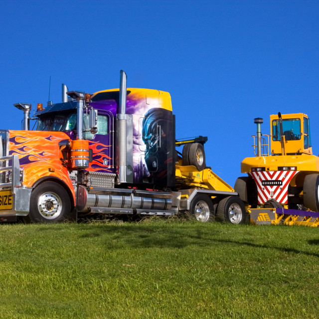 """Colourful Kenworth"" stock image"