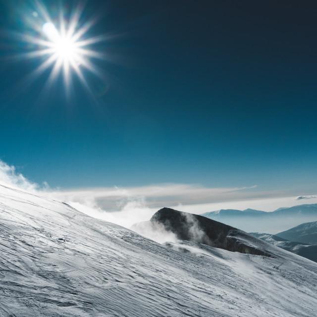 """Freeride snow field"" stock image"