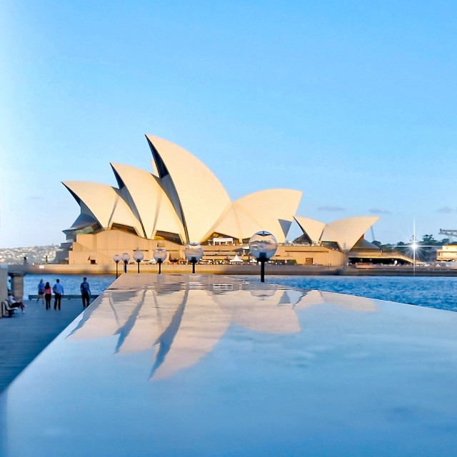 """Opera House Reflections"" stock image"