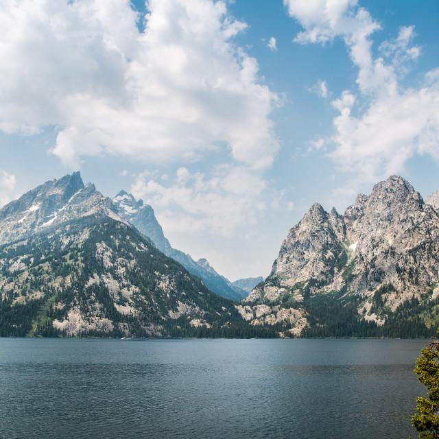 """""""Mountain & Lake"""" stock image"""