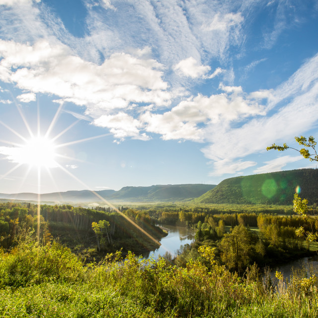 """""""Morning Valley"""" stock image"""
