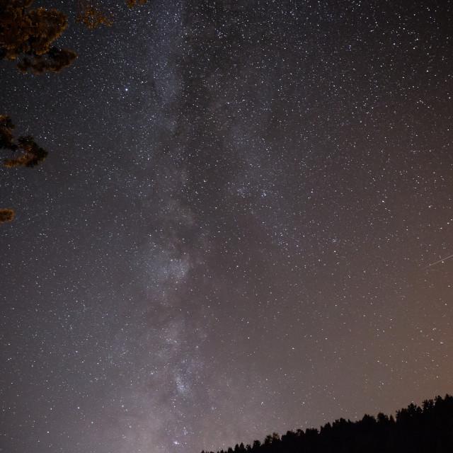 """Starry shooting star"" stock image"