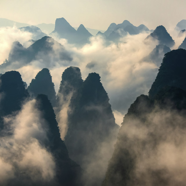 """Karst Mountains, Guangxi, China"" stock image"