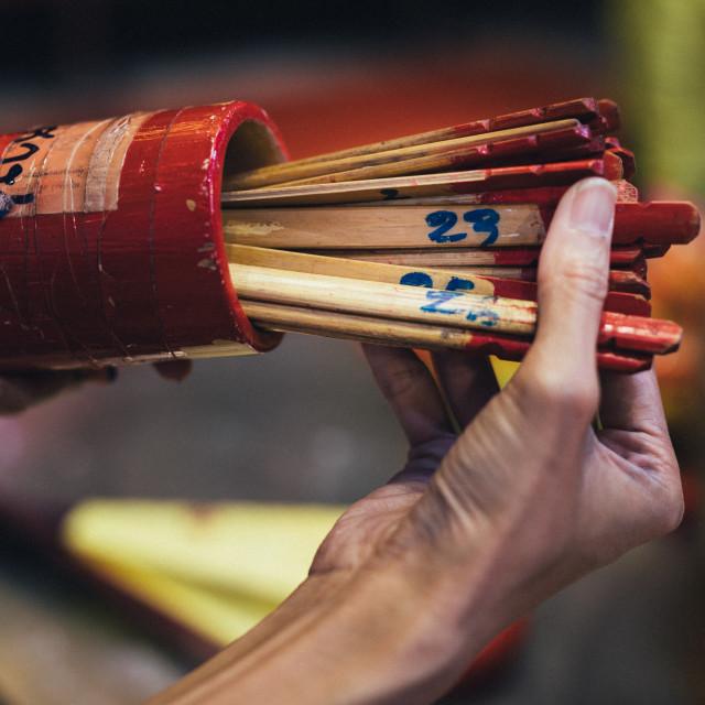 """""""Kau Cim chinese fortune telling sticks"""" stock image"""