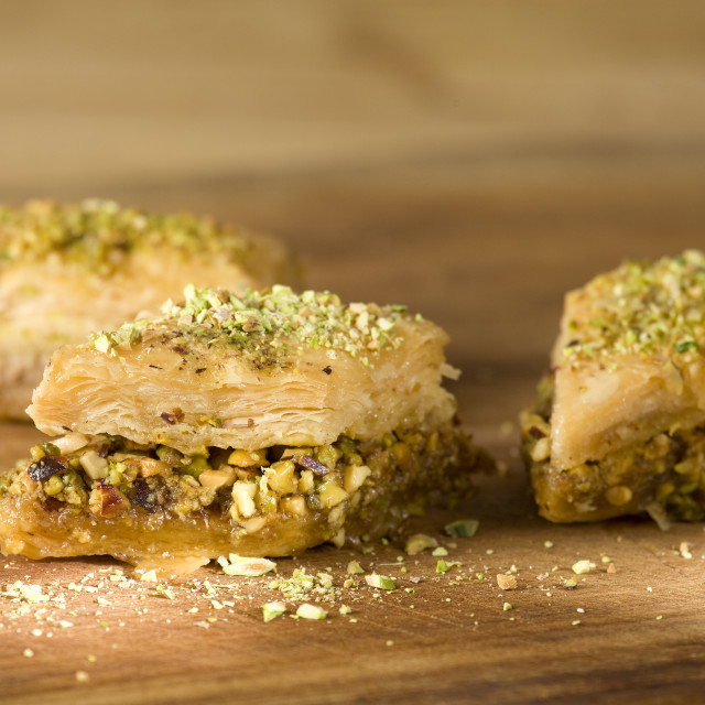 """close up of Baklava"" stock image"