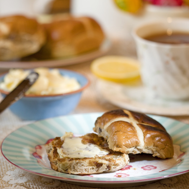 """hot cross bun"" stock image"