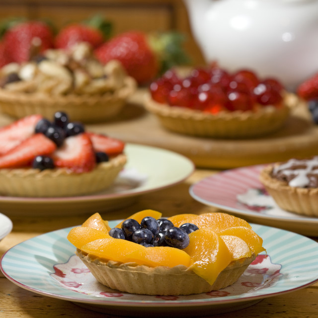 """fruit tarts"" stock image"
