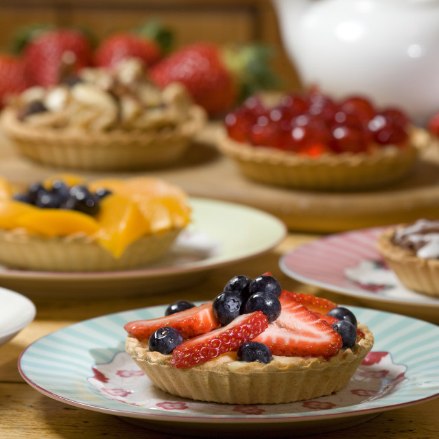 """strawberry and blueberry tart"" stock image"