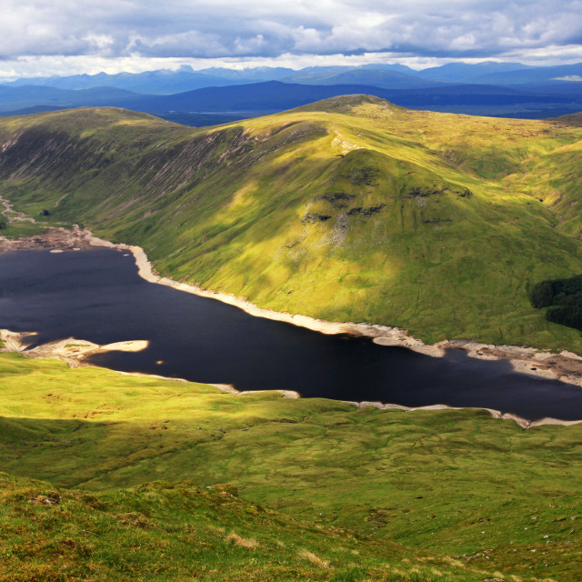 """""""Loch an Daimh from Stuchd an Lochain"""" stock image"""