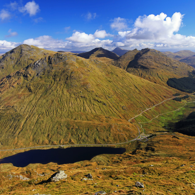 """""""View over Arrochar Alps, Rest and Be Thankful, Scotland"""" stock image"""