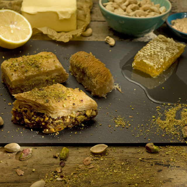 """baklava with ingredients"" stock image"