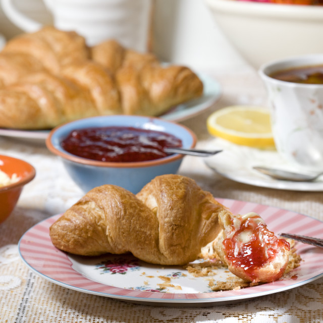 """""""croissant with jam"""" stock image"""