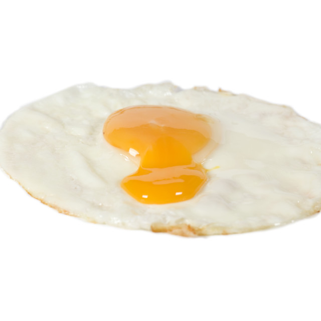 """broken fried egg"" stock image"
