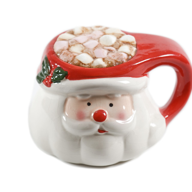 """Santa mug with marshmallows"" stock image"