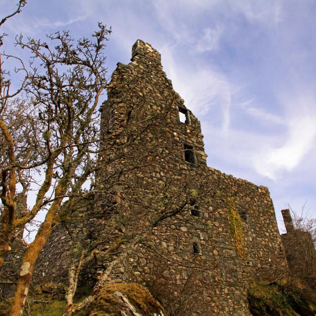 """Kilchurn Castle, Loch Awe, Scotland"" stock image"