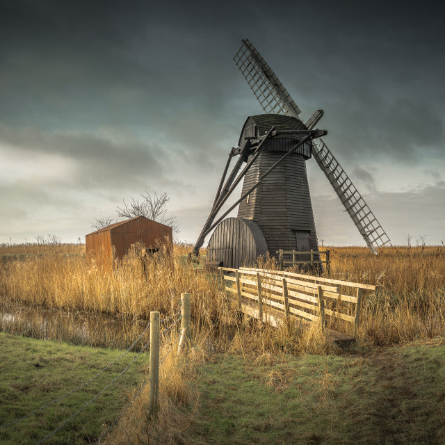 """Herringfleet Windmill"" stock image"